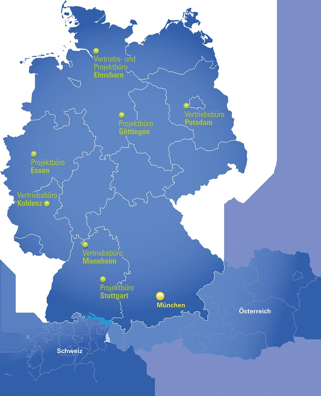 Standorte DFC-SYSTEMS