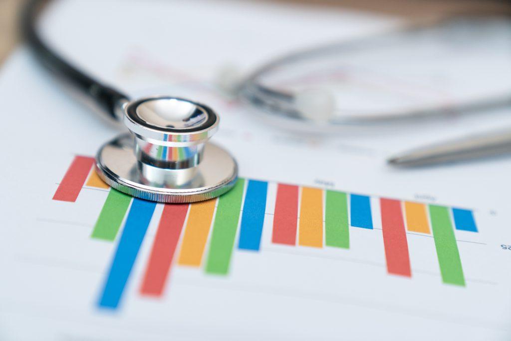 Grafik in Finanzbericht einer Klinik
