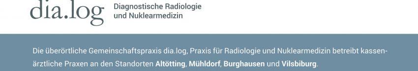 Referenzbericht Gemeinschaftspraxis für Radiologie dia.log Altoetting Logo